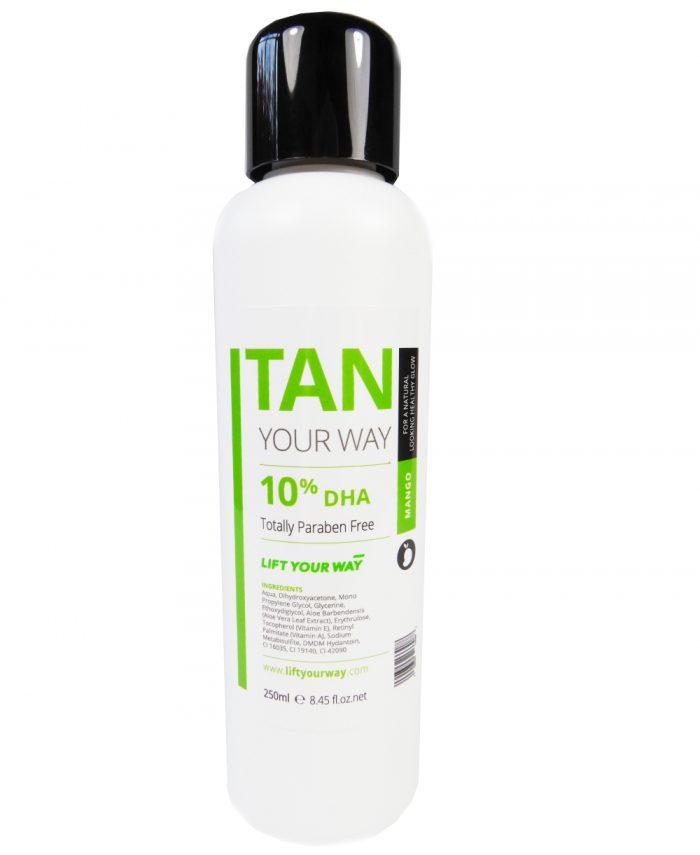 Sample size spray tan