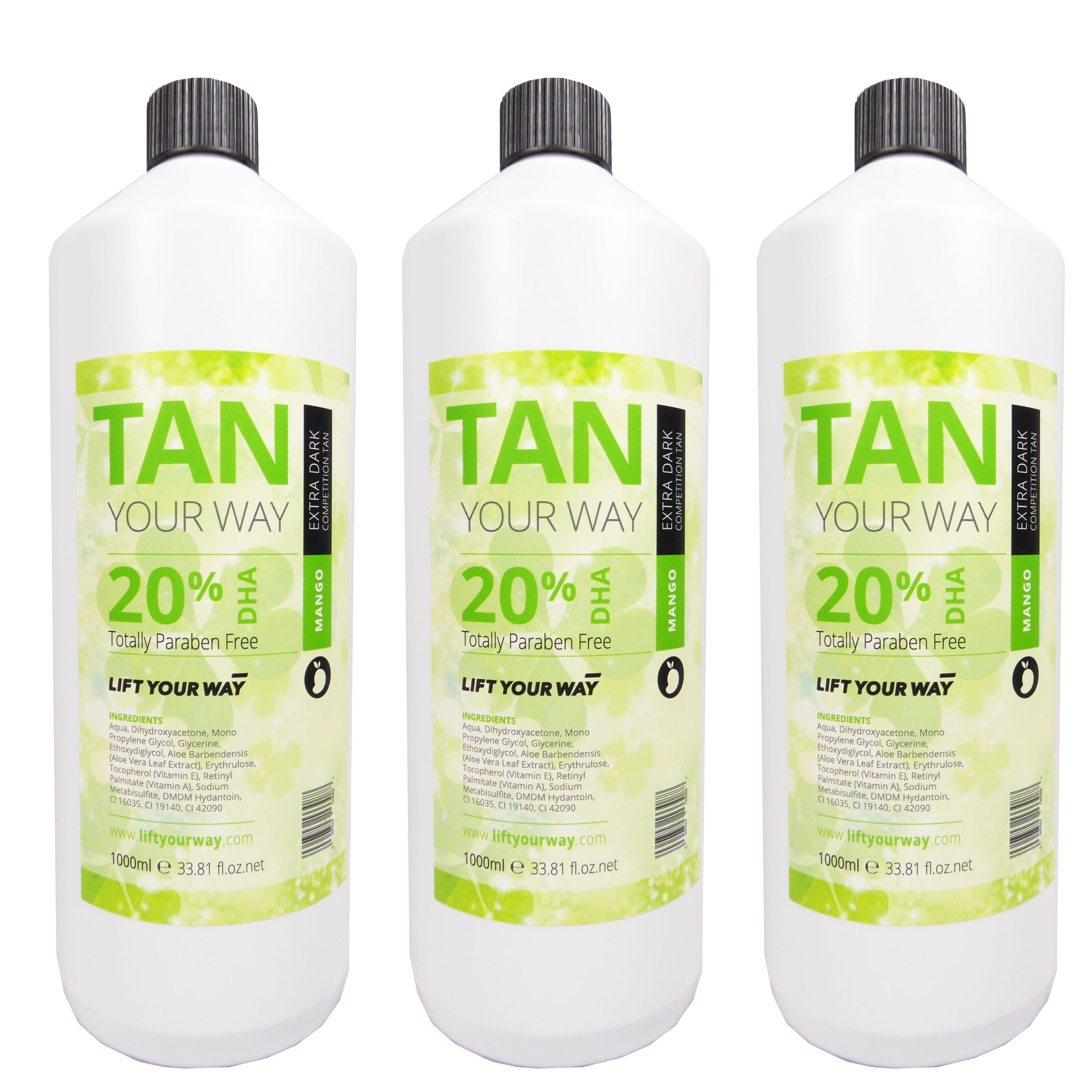 3 litres of super dark competition tan