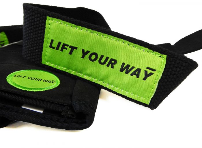 Weight lifting glove and strap set