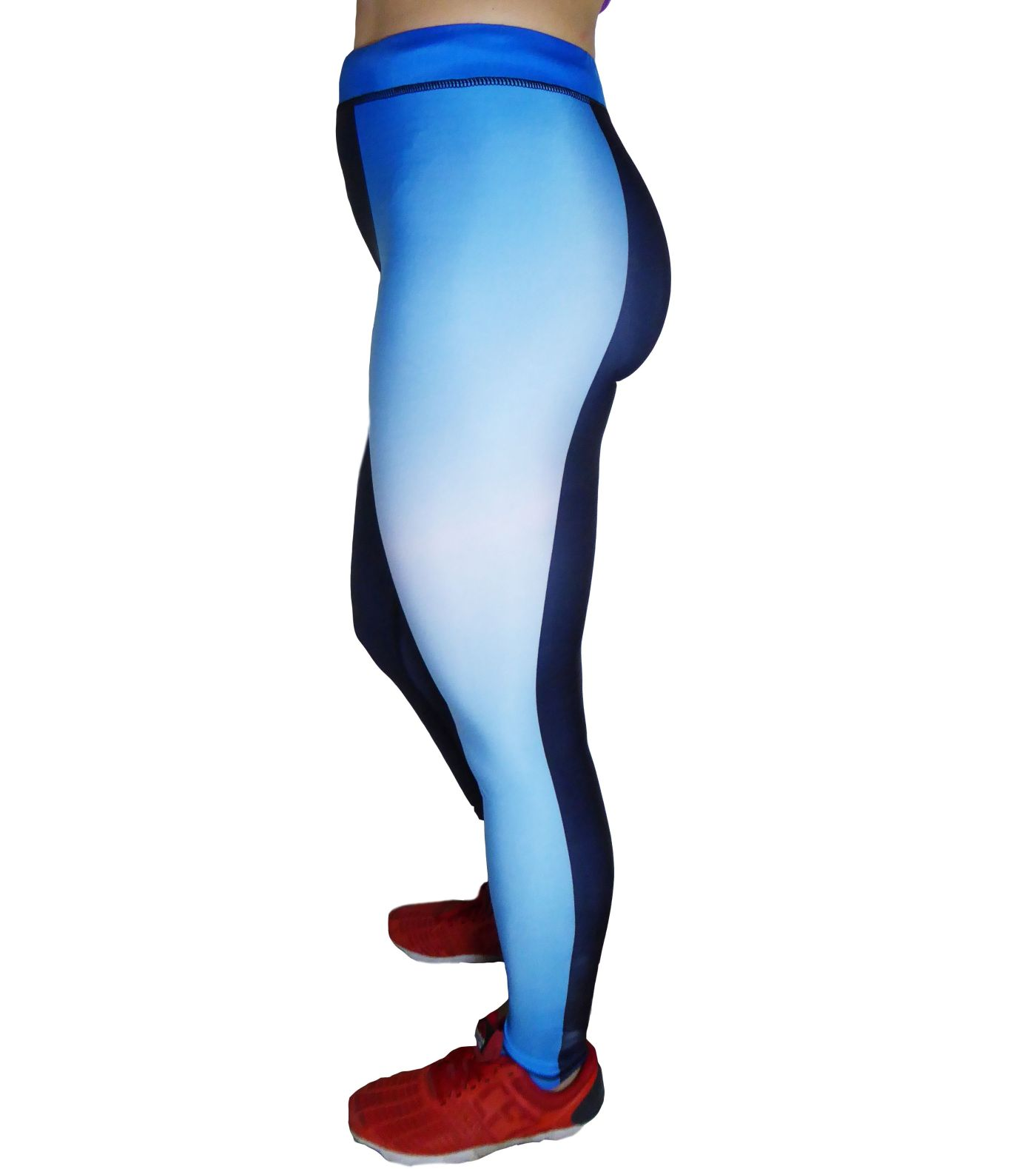 Blue gym leggings