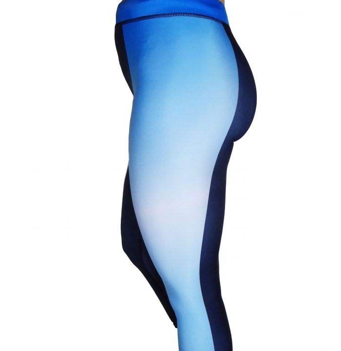 Blue border leggings