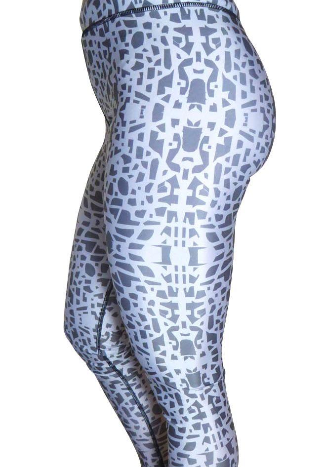 Grey mosaic leggings
