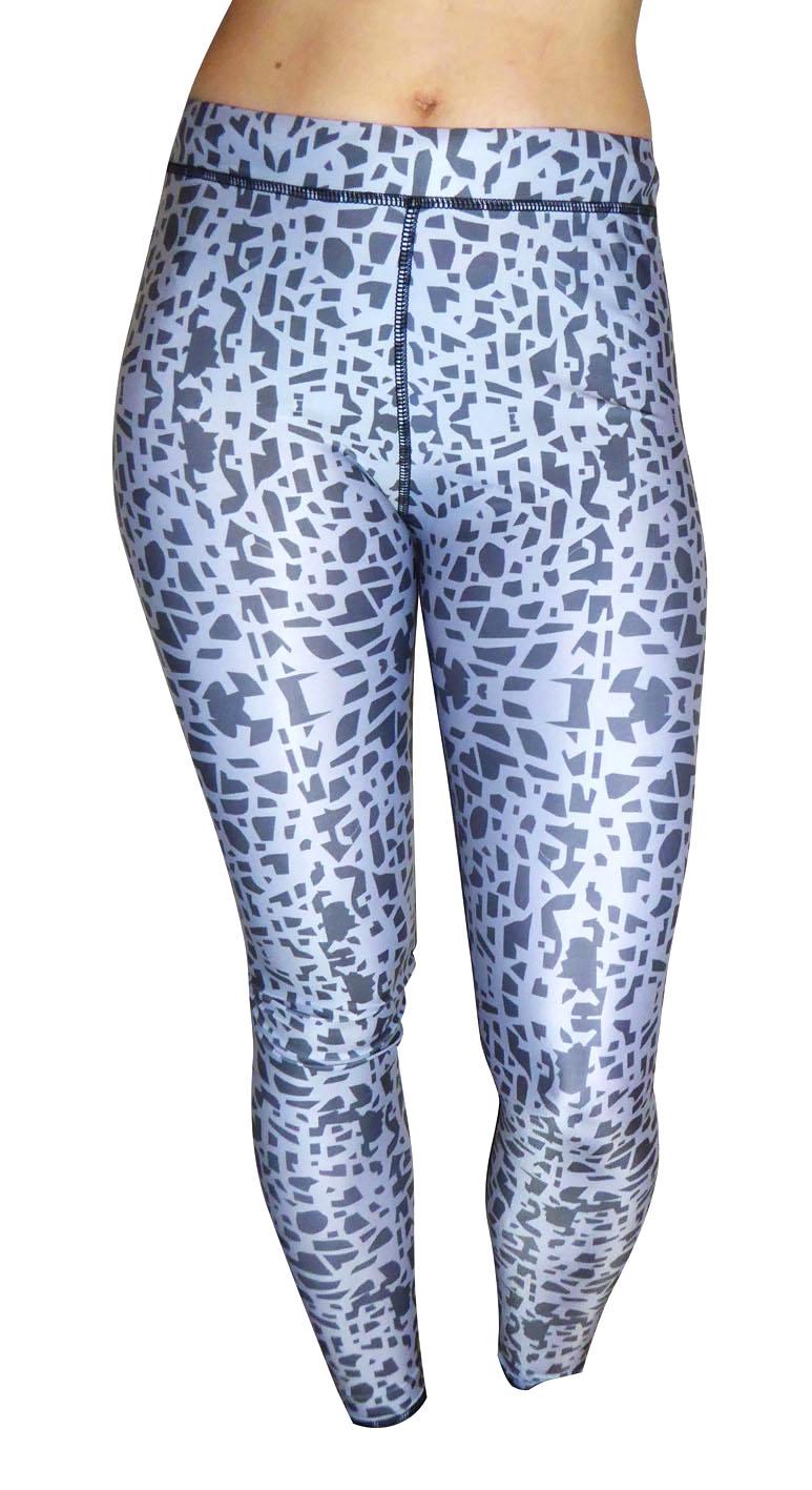 Grey pattern yoga trousers
